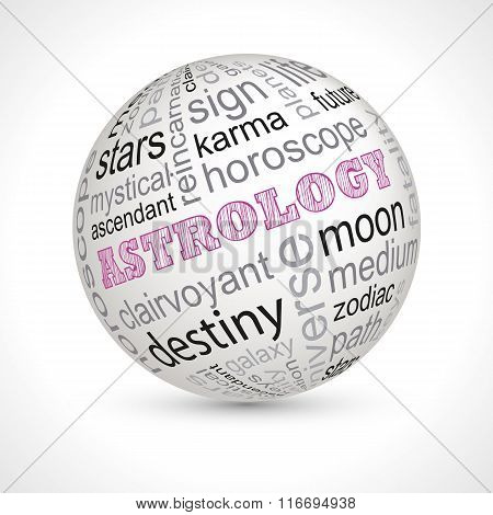 Astrology Theme Sphere With Keywords