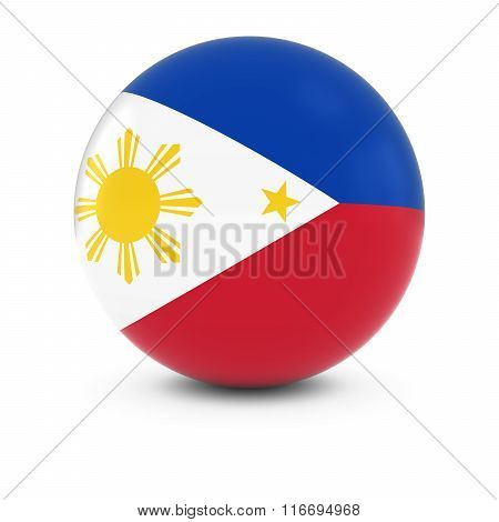Filipino Flag Ball - Flag Of Philippines On Isolated Sphere