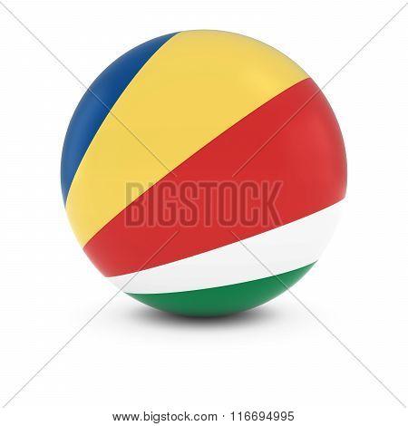 Seychellois Flag Ball - Flag Of Seychelles On Isolated Sphere