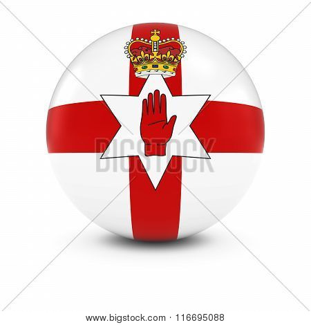 Ulster Flag Ball - Ulster Flag Of Northern Ireland On Isolated Sphere
