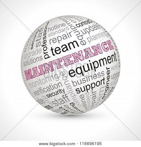 Maintenance Theme Sphere With Keywords