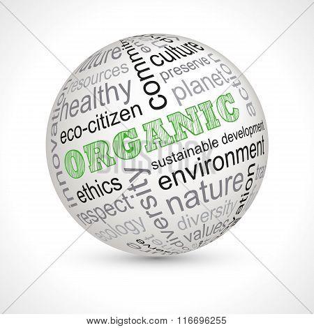 Organic Theme Sphere With Keywords