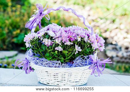 Wedding Flowers In A Basket
