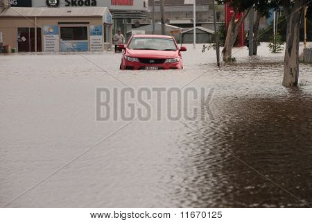 Brisbane, Australia - Jan 12 : Flood  Brisbane  Queensland Declared Natural Disater January 12, 2011