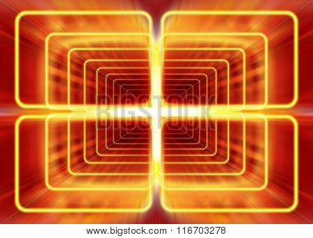 wave mode of electromagnetic radiation, abstract background