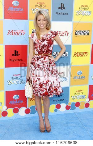 Christian Serratos at the Variety's Power Of Youth held at the Paramount Studios in Hollywood, USA on September 15, 2012.