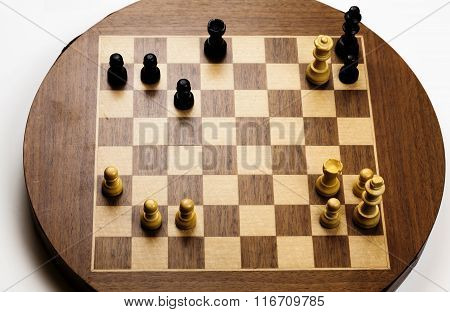 Final Checkmate Position On Old Chess Board