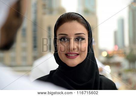 Young Emirati Arab couple