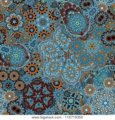 Beautiful Colorful Paisley Seamless Background