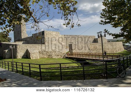 Ruins of medieval fortress in Drobeta Turnu-Severin