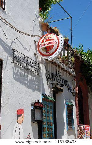 Bar in the Albaicin District, Granada.
