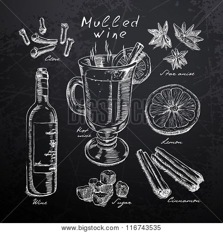 restaurant menu on a blackboard
