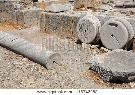 Archeological Site Of Ancient Gortyn