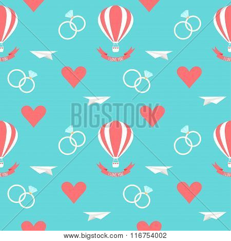 Wedding Seamless Romantic Background