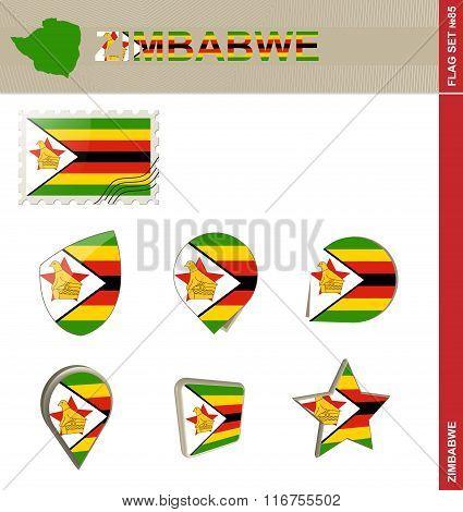 Zimbabwe Flag Set, Flag Set #85