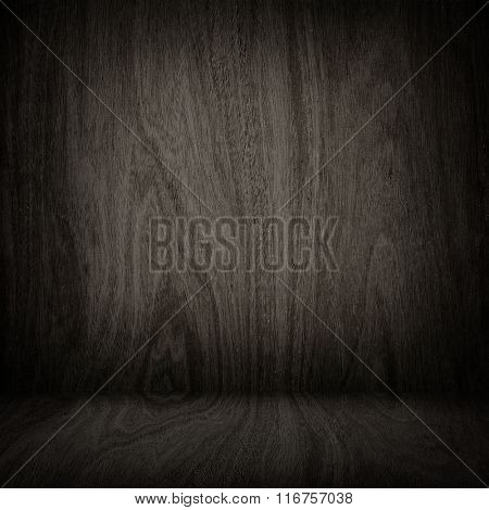 interior of old wood board background