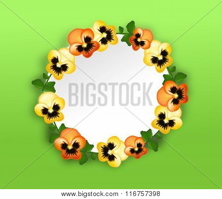 Heartsease Circle Background