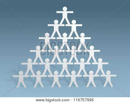 3d paper people stick figures