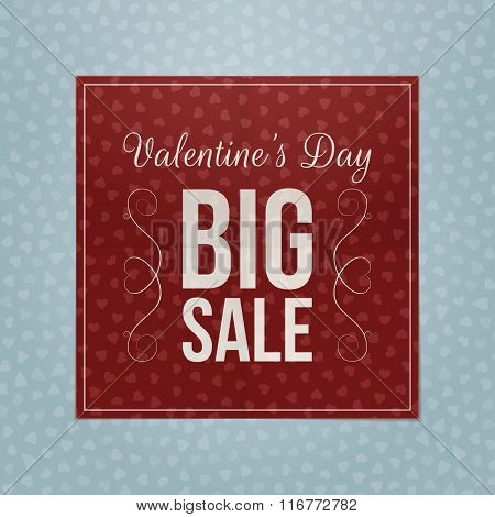 Valentines Day red square paper greeting Banner