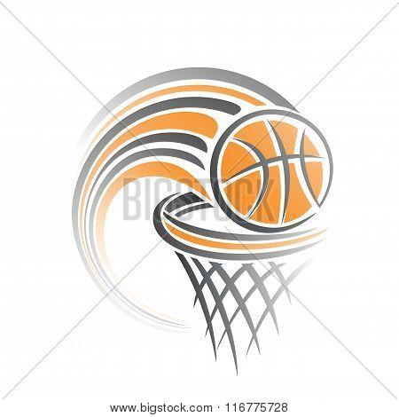 The image on a basketball theme