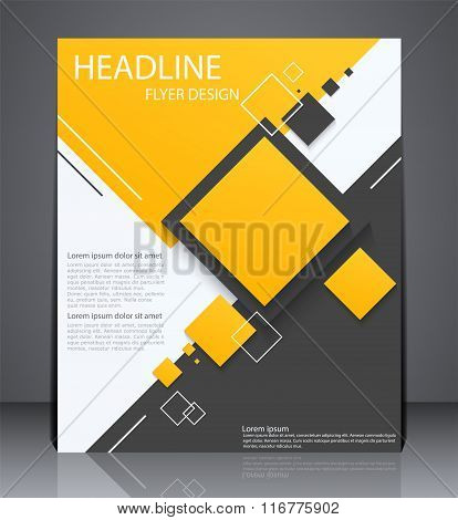 Abstract Digital Business Brochure Flyer, Geometric Design With
