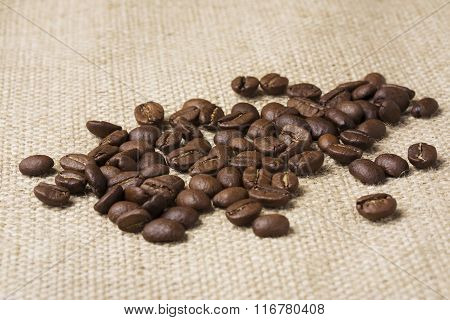 Grains Of Black Coffee