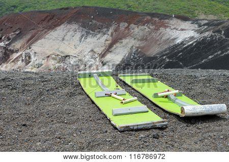 Volcano Boarding Is A Super Fun Activity For Adventurous Travelers. Cerro Negro Volcano, Nicaragua