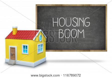 Housing boom on blackboard