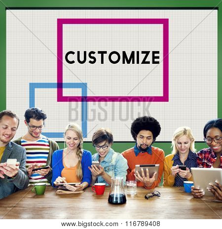 Customize Modify Ideas Adjust Creativity Customization Concept