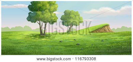 Background Garden Green Have A Mound