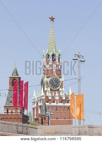 Spasskaya Tower In The Kremlin