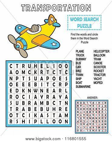 Word search transportation.