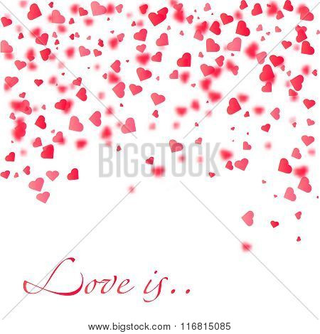Heart Confetti Pieces. Vector