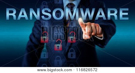 Manager Pushing Ransomware Onscreen
