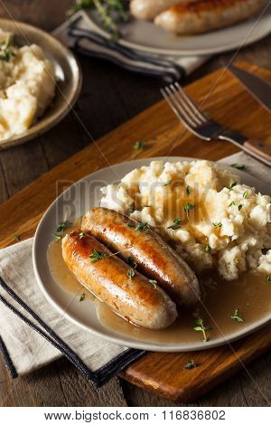 Homemade Bangers And Mash