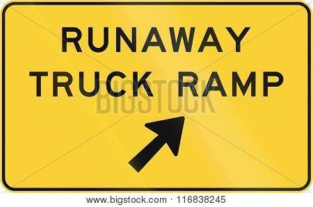 United States Mutcd Warning Road Sign - Runaway Truck Ramp