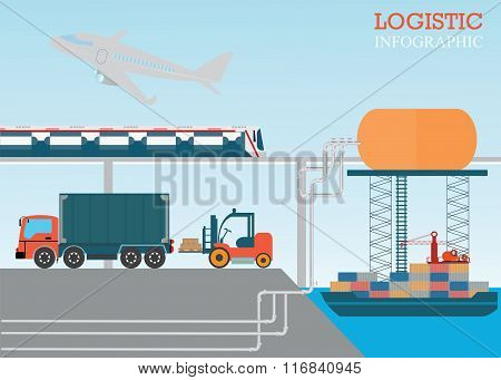 Logistic Info Vector Illustration.