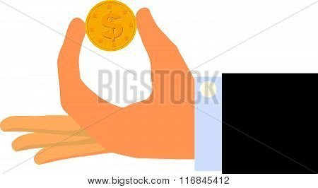 Gold Find (isolated on white background)