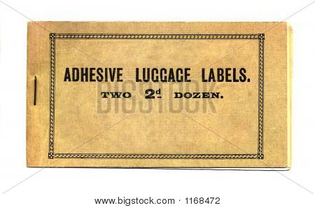 Adhesive Luggage Labels