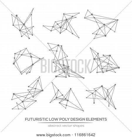 Abstract Polygonal Futuristic Glitch Shapes