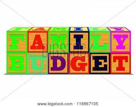 Family Budget in Alphabet Blocks