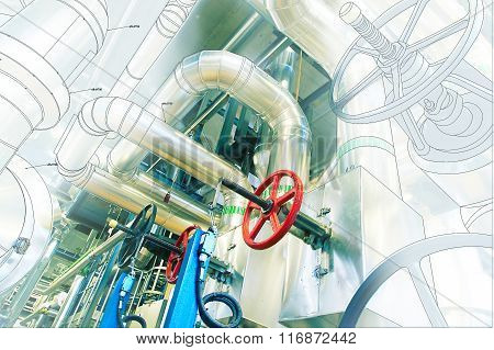Computer Cad Design Of Pipelines For Modern Industrial Power Plant
