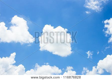 Color Sky With Clouds, Background