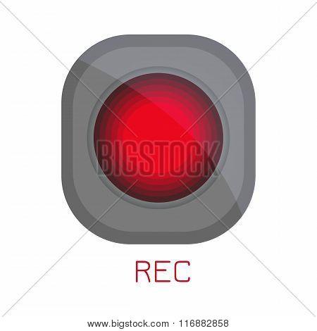 REC icon. Record button