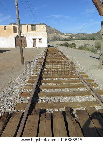Film Set Railway Track