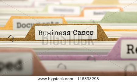 File Folder Labeled as Business Cases.