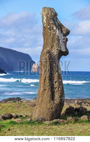 Moai Statues In Ahu Tongariki, Easter Island, Chile