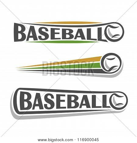 A set of images on the theme of baseball