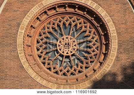 Milan: Rose Window Of  Carmine Church
