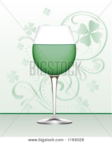 Glass Of Green Wine